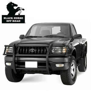 Black Horse 2001 2004 Toyota Tacoma Black Grille Brush Bumper Guard 17to23ma