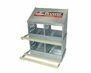 4 Hole Nest Poultry Nesting Box Bird Chicken House Galvanized Perche Care Clean
