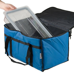 Insulated Blue 23 X 13 X 15 Nylon Hot Cold Food Carrier Bag