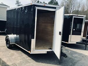 2018 6x12 Blackout Gold Series Enclosed Cargo Trailer 2018 Contact 919 661 1045