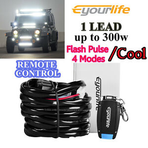 1lead Wireless Wiring Harness Led Light Bar Remote Switch Fog Truck Jeep Atv 12v