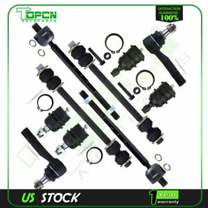 10 Front Suspension Steering Kit Tie Rods Ball Joints For 1998 2001 Ford Ranger