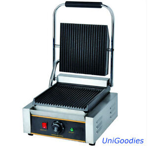 Griddle Grill Machine Warmer Toaster Sandwich Panini Press One Head Electric
