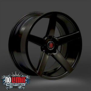 Axe Ex18 Wheels 18x9 Black Polish W Satin Face 5 Lug Set Of 4 Rims