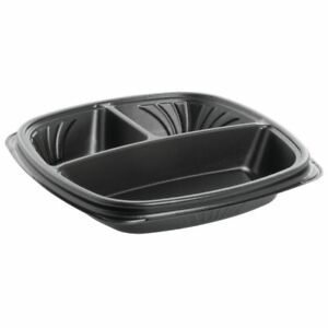 Takeout Containers 3 Compartment Plate bowl 9 l X 9 w X 1 13 16 h 87512