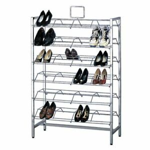 Retail Shoe Rack Doublesided Display Holds 72 Pair 66210