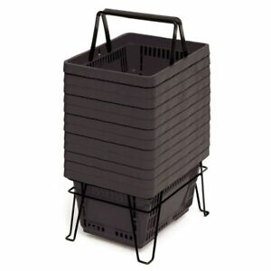 22 Liter Grocery Shopping Baskets Black 98814
