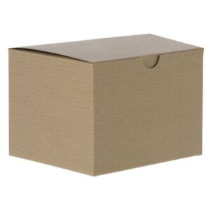 1 Piece Kraft Gift Boxes 10 X 10 X 6 Case Of 50 95220