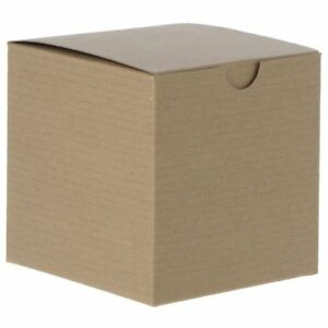 Recyclable Kraft Gift Boxes 4 X 4 X 4 Case Of 100 42361
