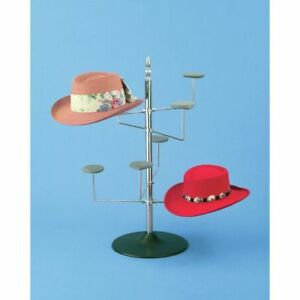 Rotating Hat Display Countertop Holds 8 Hats 35033