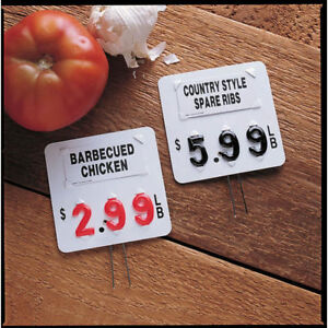 Pin Tag Deli Or Meat Set With 3 Digit Pricing And Black Numbers 26441
