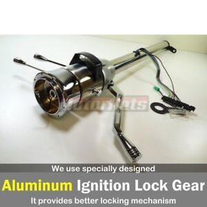 28 raw Stainless Automatic Tilt Steering Column Shift Gm Chevy No Ignition Key