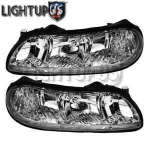 Left Right Pair Head Lights For 1997 2005 Chevy Malibu Classic Olds Cutlass