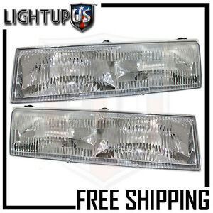 Headlights Headlamps Pair Left Right Set For 92 94 Grand Marquis 89 90 Cougar