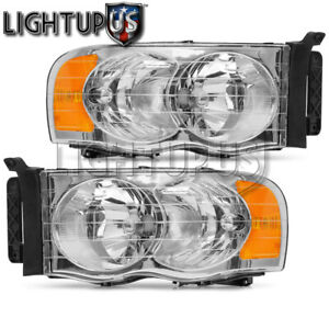 Left Right Sides Pair Head Lights For 2002 2005 Dodge Ram 1500 2500 3500