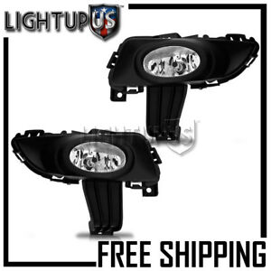 2003 2005 Mazda 3 Left Right Pair Performance Clear Lens Driving Fog Lights
