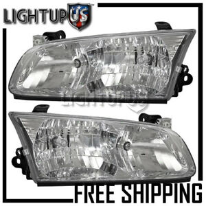 2000 2001 Toyota Camry Left Right Sides Pair Headlights Headlamps