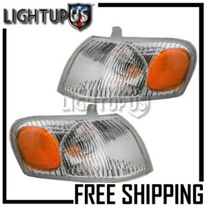 Left Right Sides Pair Corner Parking Signal Lights For 1998 2000 Toyota Corolla