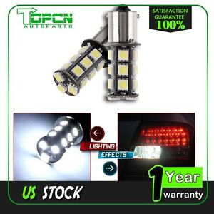 2x Led Smd 18 Led Bulbs Interior Rv Camper For Brake Light 1156 7506 1003 1141