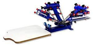 Screen Printing 4 Color 1 Pallet Micro adjust Rotary Holder Printer Table Press