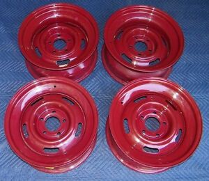 New Steel Powder Coated 17 x8 Rally Wheels Set Of 4 5 On 5 Bolt Pattern