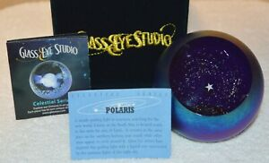 POLARIS Celestial Series Paperweight by Glass Eye Studio Made in USA 2216PWC
