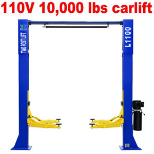 110v 10 000lbs Car Lift L1100 2 Post Lift Car Auto Truck Hoist Great Quality