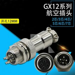 Gx12 12mm Male Female Panel Metal Aviation Plug Sockets Connector 2p 3p 4p 5p 6p