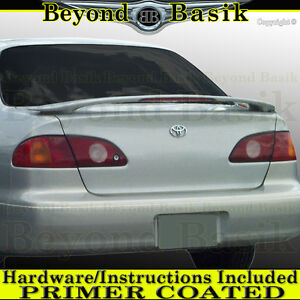 For 1998 1999 2000 2001 2002 Toyota Corolla Factory Style Spoiler W Led Primer