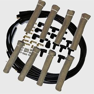 8 5 Mm Blk Spark Plug Wires Hi temp Suppression Str Ends Hei W Gray Protectors