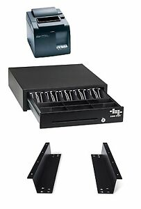 Pos Hardware Bundle For Square Stand Cash Drawer Mounting Brackets Thermal