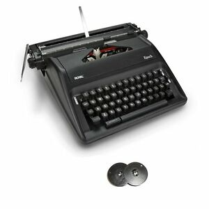 Royal Epoch Portable Manual Typewriter With Spool Typewriter Ribbon 2 pack