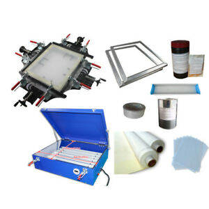 Screen Printing Plate Mkaing Machines Kit Manul Screen Stretcher