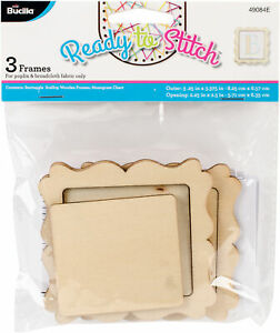 Bucilla 49084e Rectangle Wood Frame 3 Pkg 2 25 X2 5 3pk