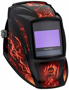 Auto Darkening Welding Helmet Black orange Digital Elite 3 5 To 8 8 To 13 L