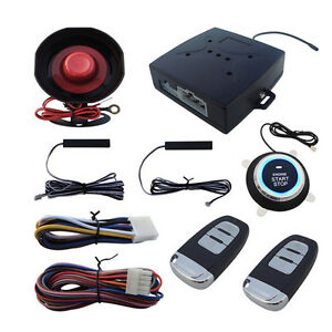 Newly Suv Alarm System Keyless Entry Engine Ignition Push Starter Button Kit