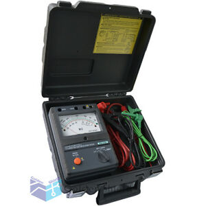 Kyoritsu 3123a High Voltage Insulation Tester 10000v 10kv With Carrying Case