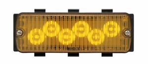 Whelen 50a03zcr 500 Series Tir6 Amber Super led Light Head Clear Lens Strobe