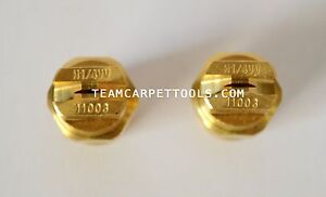 Carpet Cleaning Wand Replacement Brass 1 4 V jets 11003 Vee Jets 2 Count
