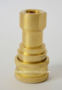 All Brass Female Quick Disconnect qd 1 4 Carpet Cleaning Wand Truckmount Valve