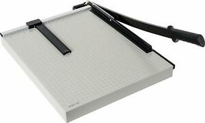 Guillotine 17 Stack Paper Cutter Trimmer Blade Office School Desktop Heavy Duty