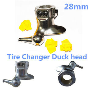 New 28mm Motorcycle Tire Changer Mount Demount Duck Head Protector Tools 3 Pads