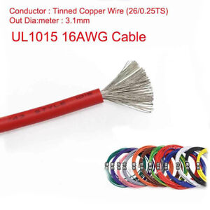 16awg Stranded Ul1015 Cable Auto Car Electrical Equipment Wire 600v 105 c