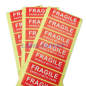 1000pc Fragile Labels fragile Handle With Care Warning Sticker 1 X 3
