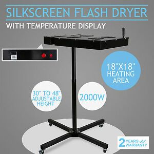 18 X 18 Silkscreen Flash Dryer Curing Garments T shirt Screen Printing