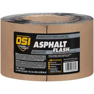 Osi Asphalt Flash Rubberized Asphalt Window Flashing Tape 4 In 12 Rolls