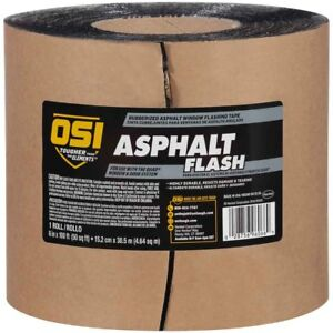 Osi Asphalt Flash Rubberized Asphalt Window Flashing Tape 6 In 8 Rolls P