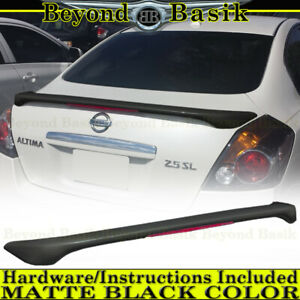For Nissan Altima 2007 2012 Matte Black Factory Style Spoiler Wing W Led