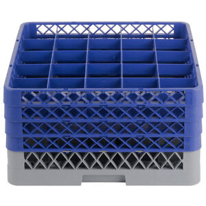 Commercial Dishwasher Machine 25 Cup Glass Tray Rack 4 Extenders Dishwashing