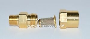 In line Filter Brass 1 4 For Carpet Cleaning Wands Hoses Truckmount Portable